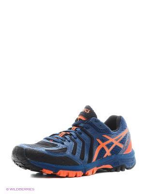 Кроссовки GEL-FujiAttack 5 ASICS. Цвет: синий, оранжевый, черный