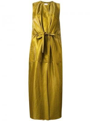 Платье Dile Christian Wijnants. Цвет: металлический