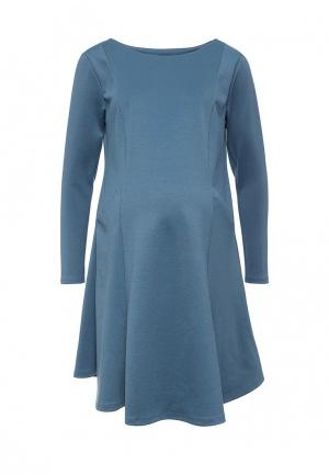 Платье week by. Цвет: голубой