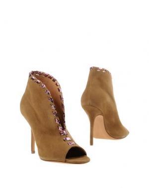 Ботинки ALEXA WAGNER. Цвет: верблюжий