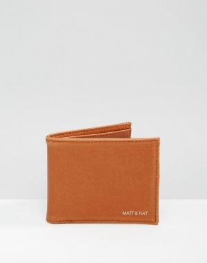 Matt & nat Бумажник Rubben. Цвет: коричневый