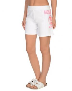 Пляжные брюки и шорты MOSCHINO SWIM. Цвет: белый
