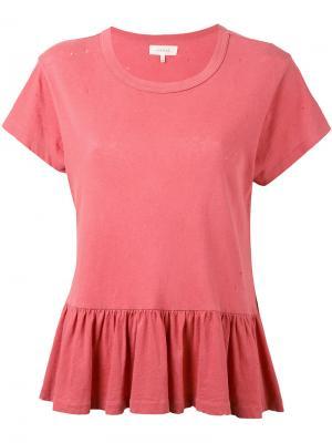 Peplum t-shirt The Great. Цвет: телесный