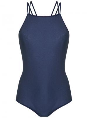 Strappy bodysuit Giuliana Romanno. Цвет: синий