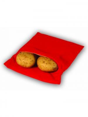 Пакет для запекания картофеля в микроволновой печи Пикник RUGES. Цвет: красный