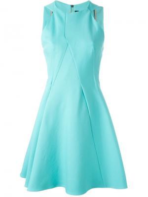 Расклешенное платье Roland Mouret. Цвет: синий