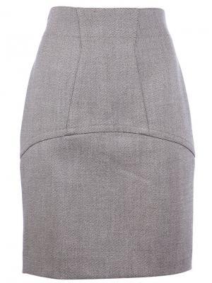 Юбка с высокой талией Alaïa Vintage. Цвет: коричневый