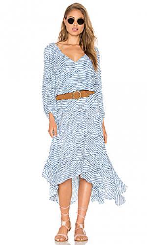 Платье chiara Vix Swimwear. Цвет: синий