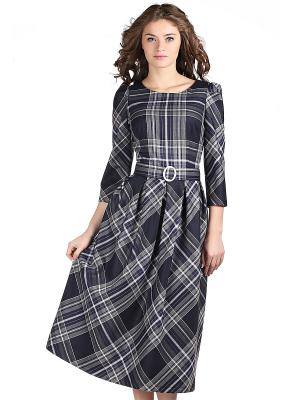 Платье OLIVEGREY. Цвет: темно-синий, темно-серый