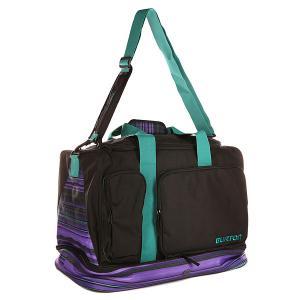 Сумка спортивная  Riders Bag High Tide Stripe Burton. Цвет: черный,фиолетовый,голубой