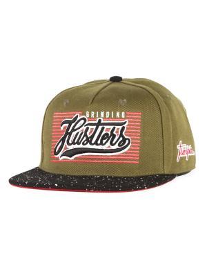 Бейсболка TRUESPIN Splatter Hustlers True Spin. Цвет: зеленый