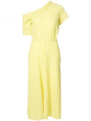 Асимметричное платье Rachel Comey. Цвет: жёлтый и оранжевый