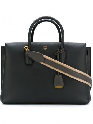 Большая сумка-тоут Milla MCM. Цвет: серый