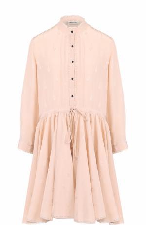 Шелковое платье-рубашка с укороченным рукавом Zadig&Voltaire WFCP0405F