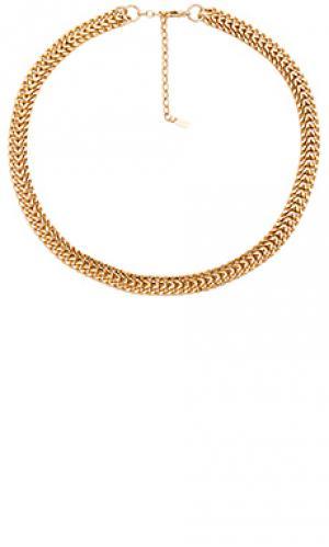 Ожерелье double curb joolz by Martha Calvo. Цвет: металлический золотой