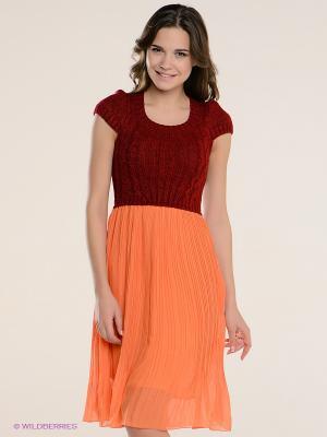 Платье Kling. Цвет: темно-красный, оранжевый