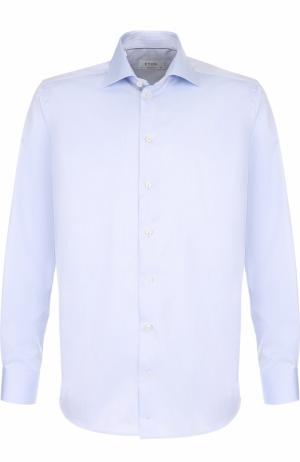 Хлопковая сорочка с воротником кент Eton. Цвет: светло-голубой