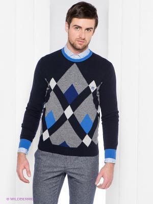 Джемпер Henry Cotton's. Цвет: темно-синий, голубой, серый, синий