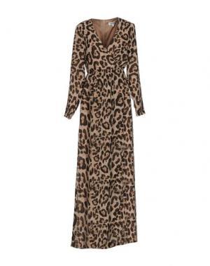 Длинное платье DRY LAKE.. Цвет: верблюжий