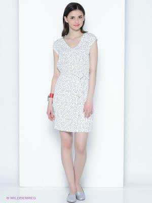 Платье Sinequanone. Цвет: белый, синий