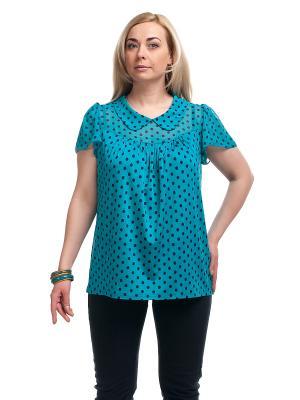 Блуза OLSI. Цвет: бирюзовый, черный