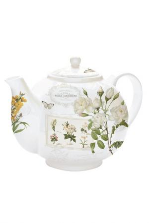 Чайник с ситечком Nuova R2S. Цвет: белый, зеленый