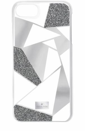 Чехол Heroism для iPhone 7 Swarovski. Цвет: серебряный
