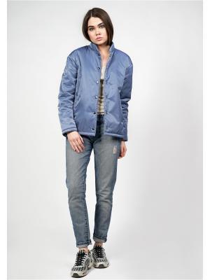 Куртка-бомбер BURLO. Цвет: голубой