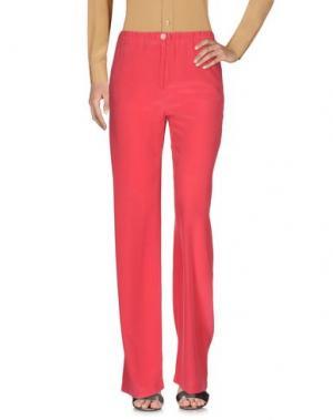 Повседневные брюки QL2 QUELLEDUE. Цвет: коралловый