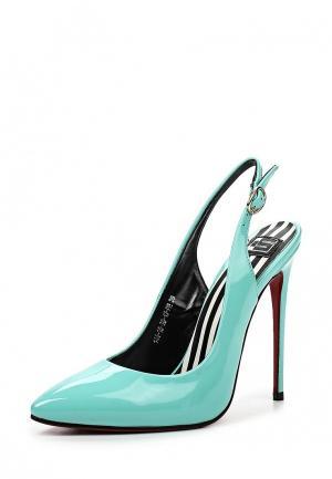 Туфли Calipso. Цвет: бирюзовый