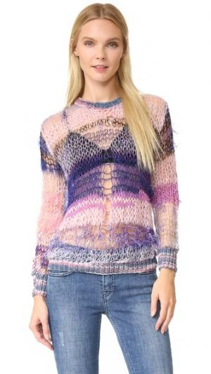 Блестящий свитер свободной вязки Rodarte. Цвет: розовый/фиолетовый