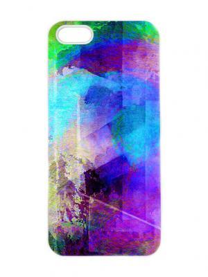 Чехол для iPhone 5/5s Северное сияние Арт. IP5-296 Chocopony. Цвет: фиолетовый, синий, голубой