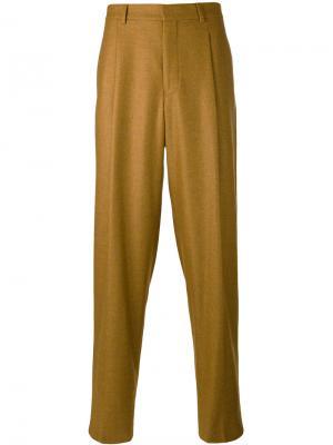 Классические брюки со складками E. Tautz. Цвет: жёлтый и оранжевый