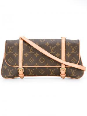 Клатч Marrelle Louis Vuitton Vintage. Цвет: коричневый