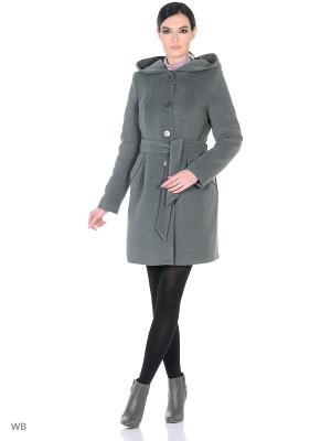 Пальто зимнее Инга XP-GROUP. Цвет: серый