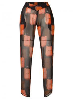 Полупрозрачные зауженные брюки Amir Slama. Цвет: чёрный