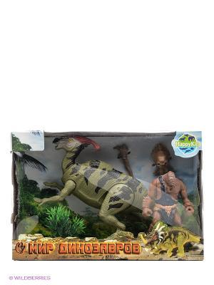 Набор динозавров Happy Kin. Цвет: зеленый