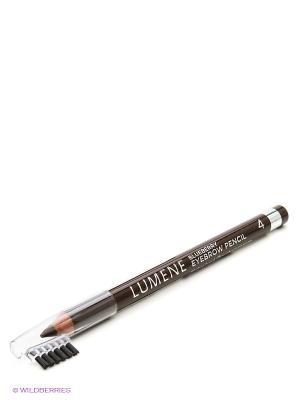 Контурный карандаш для бровей Lumene Blueberry  №4 Средний коричневый, 1,1 г. Цвет: темно-коричневый