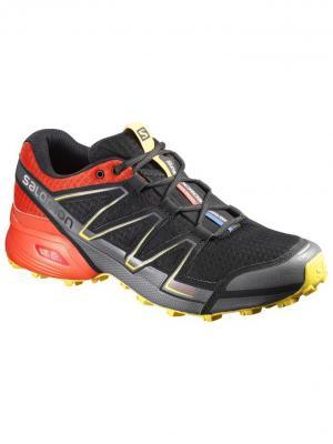 Кроссовки SHOES SPEEDCROSS VARIO BLACK/RD/YE SALOMON. Цвет: черный,красный,желтый