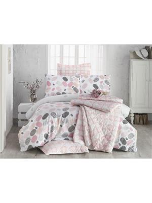 Комплект постельного белья LOVABLE pembe/pink/розовый, ранфорс, 140ТС, 100% хлопок, евро ISSIMO Home. Цвет: розовый