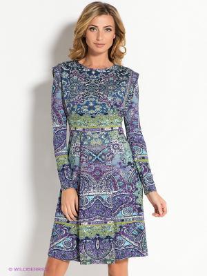 Платье Elena Shipilova. Цвет: фиолетовый, зеленый, темно-синий
