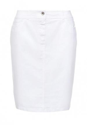 Юбка джинсовая Gerry Weber. Цвет: белый