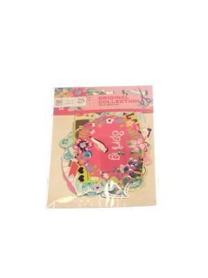 Набор Декор для открытки Азбука Тойс. Цвет: розовый