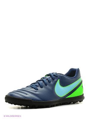 Шиповки TIEMPO RIO III TF Nike. Цвет: синий, голубой