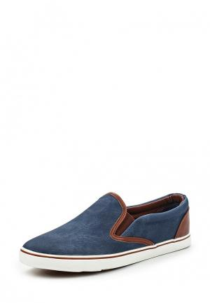Слипоны Ideal Shoes. Цвет: синий
