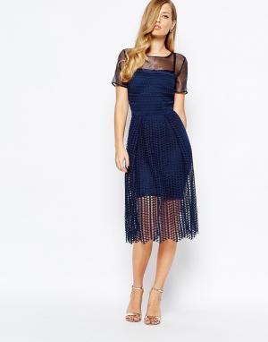 Body Frock Темно-синее платье Milly. Цвет: темно-синий