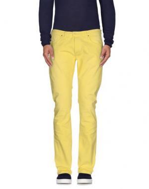 Джинсовые брюки (M) MAMUUT DENIM. Цвет: желтый