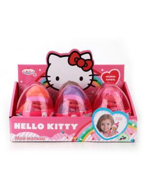 Пупс карапуз hello kitty 12см, пластиковые глаза, в ассорт. яйце дисплее уп-6шт. Цвет: розовый
