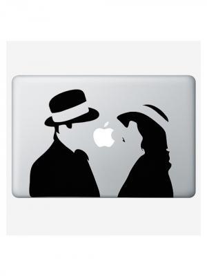 Наклейка для Macbook Air / Pro Pair (15 дюймов (диагональ экрана)) Kawaii Factory. Цвет: черный