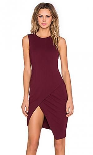 Асимметричное мини платье BLAQUE LABEL. Цвет: красное вино